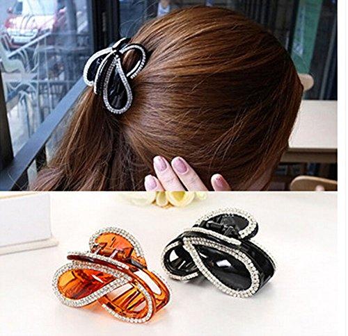 Cfalaicos Women Kid Girl Hair Clip Pin Claw Barrettes Accessories (1 Khaki