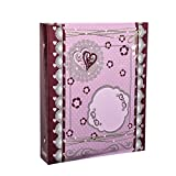 Arpan Large Tilda Style Hearts Self Adhesive 3-Ring Binder Photo Album 40 Sheets/80 Sides