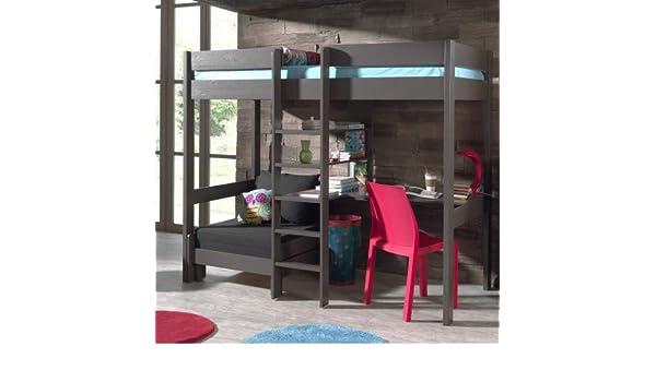 Alfred & Compagnie Armance & Faustin - Litera con asiento desplegable y escritorio, pino, color topo: Amazon.es: Hogar