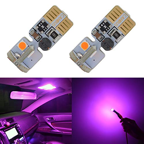 (194 LED Bulb Canbus Error Free T10 168 194 2825 Purple Bulbs for 12V Car Dome Side Marker License Plate Wedge Interior Lights(Pack of 2))