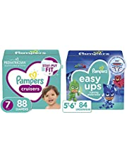 Pampers Baby Diapers and Wipes Starter Kit (2 Month Supply) - Cruisers Disposable Baby Diapers) with Sensitive Water Based Baby Wipes