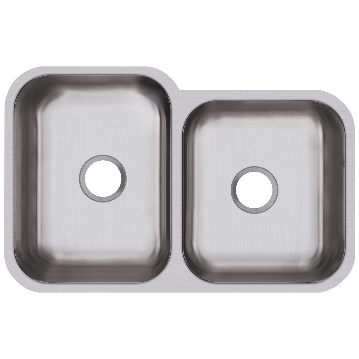 Elkay DXUH312010R Dayton Offset Double Bowl Undermount Stainless Steel Sink