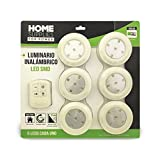 Luminario de 6 piezas led inalámbrico HOME SUPPLIES HHS-NLS1