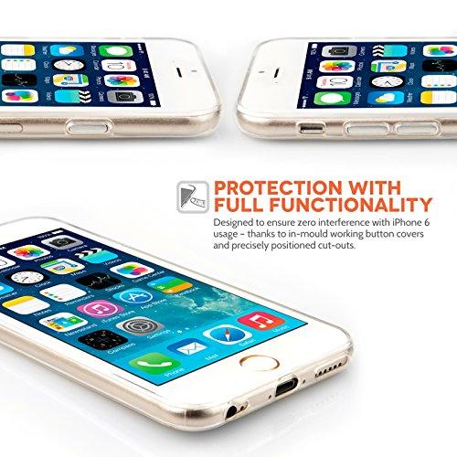 Yousave Accessories iPhone 6 Hülle Klare Ultradünn Silikon Gel Schutzhülle Mit Griffel Stift