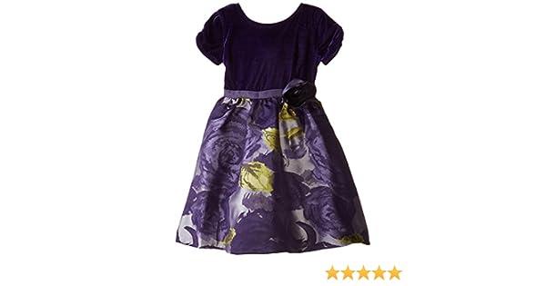 11d6edb873 Amazon.com: Us Angels Little Girls' Dress Floral Brocade Skirt with Velvet  Bodice: Clothing