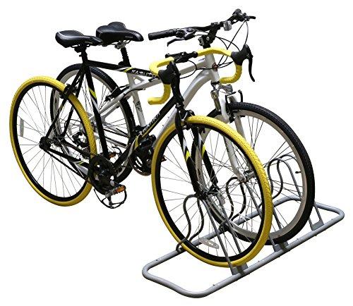 DecoBros 5 Bike Bicycle Floor Parking Adjustable Rack Storage Stand, Silver by Deco Brothers (Image #2)