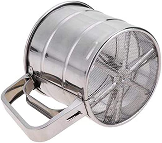 Accrie Manual Mesh Flour Sugar Powder Stainless Steel Hand Sifter Sieve Cup Baking Tool