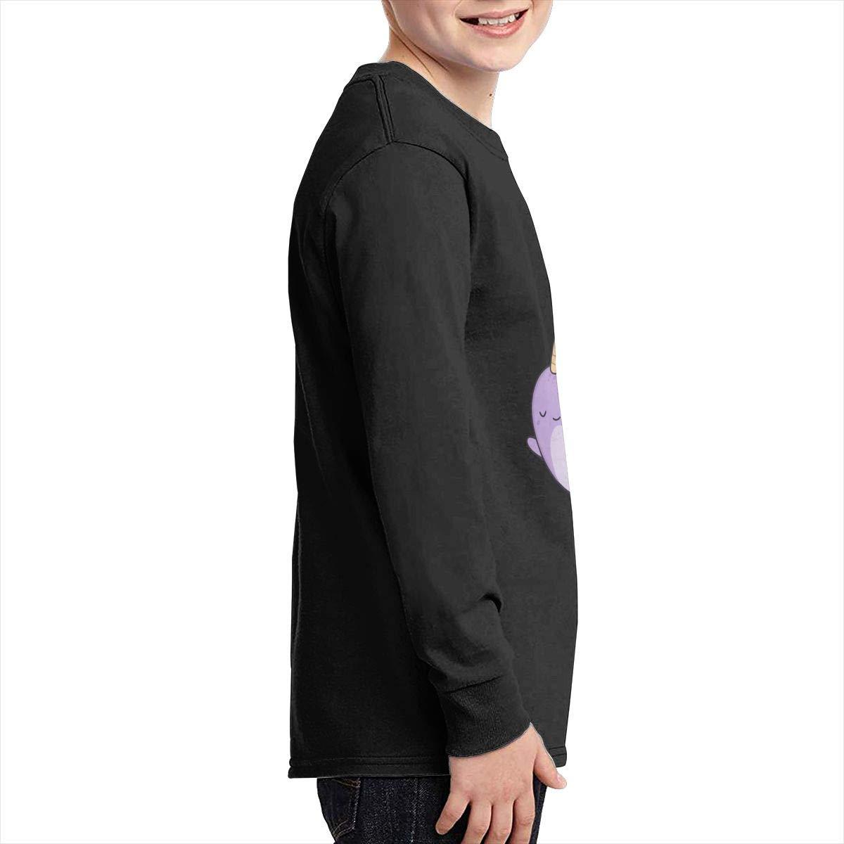 Teenagers Teen Girls Cute Narwhals Printed Long Sleeve 100/% Cotton Tee Shirt