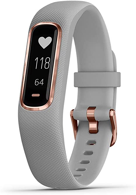 Garmin Vivosmart 4 Activity and Fitness Tracker with Pulse Ox and Heart Rate Monitor Midnight Renewed
