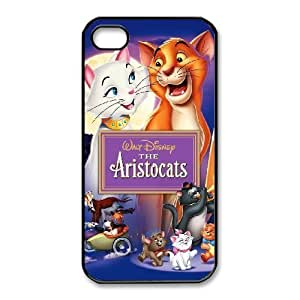 Durable Rubber Cases iPhone 4,4S Cell Phone Case Black Tyosz The Aristocats Protection Cover