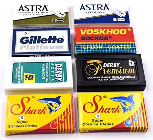 40 Excellent Quality Double Edge Razor Blades Sampler for sale  Delivered anywhere in USA