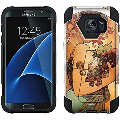 Samsung Galaxy S7 Edge Hybrid Case Alfons Mucha Fruit 2 Piece Style Silicone Case Cover with Stand for Samsung Galaxy S7 Edge Sales