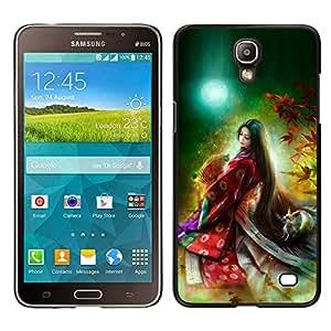 Caucho caso de Shell duro de la cubierta de accesorios de protección BY RAYDREAMMM - Samsung Galaxy Mega 2 - Asistente princesa asiática