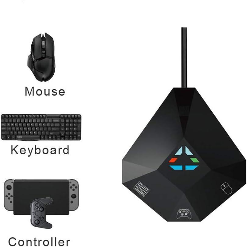 QqHAO Juegos móviles Adaptador de Teclado y ratón USB, el Juego para móvil con conexión de Cable del convertidor del regulador/de Conexiones inalámbricas