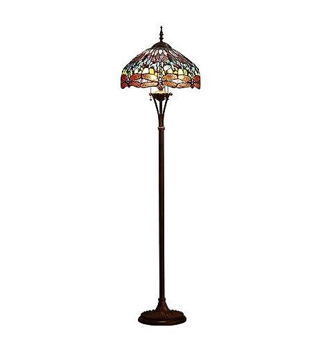 GAOLIQIN Lámpara de pie de Estilo Tiffany Creatividad Retro ...