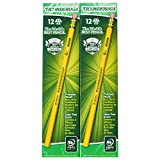 Dixon Ticonderoga Wood-Cased #2 HB Pencils, Box of 96, Yellow (13872)