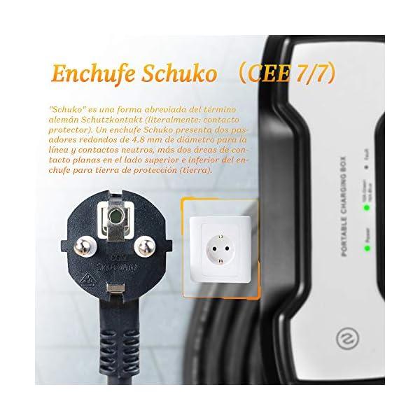 Morec Tragbares EV Ladekabel Schaltbare Ladebox 10//16A 62196-2 Schuko Ladegerät