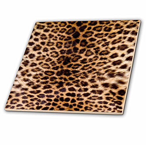 3dRose TDSwhite - Patterns Designs - Leopard Print Photo - 12 Inch Ceramic Tile (ct_285216_4)