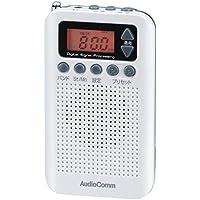 オーム電機 ラジオ AudioComm RAD-P350N-W [ホワイト]
