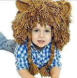 Bigood Kids Winter Animal Lion Mane Knit Ski Hat Aviator Cap Costume Accessory