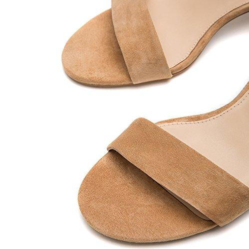 donna alti tacco Sandali con alla da DHG casual estivi piatti Sandali tacco basso moda Albicocca basso a 35 Sandali Pantofole Tacchi xUdIxq7