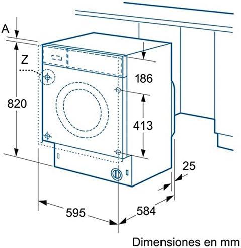 Balay 3TI776B Integrado Carga frontal 7kg 1185RPM A+ Color blanco ...