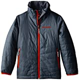 Columbia Sportswear Boys Mighty Lite Jacket, Graphite-Tangy Orange, Small
