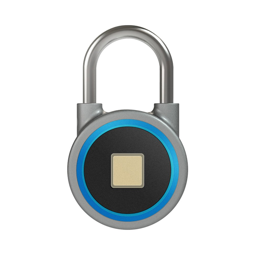 TDJDYQ Electron Intelligent Bluetooth Fingerprint Lock Anti-Theft Lock Padlock Cabinet Lock Door Lock Luggage, Backpack Aluminum Alloy 7.84.82.3Cm,Blue