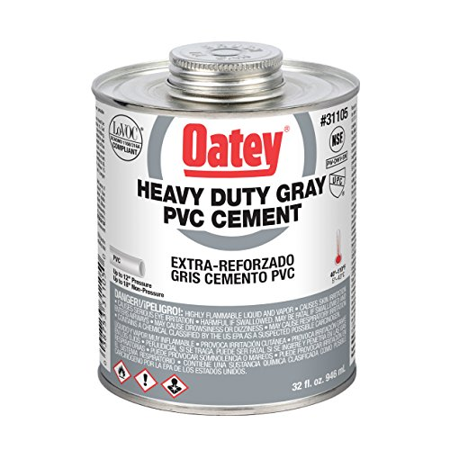 Oatey 31105 PVC Cement, 32 oz, Gray ()