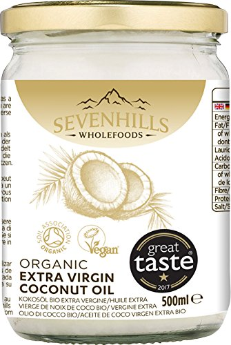 Sevenhills Wholefoods Crudo Vergine Extra Olio Di Cocco Bio, Spremuto A Freddo 500ml 6 spesavip