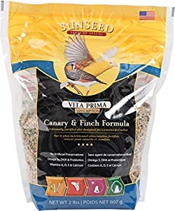 free shipping SUNSEED COMPANY 36041 Vita Prima Canary Finch Formula Pet Accessories 2 lbs/ 907 grams