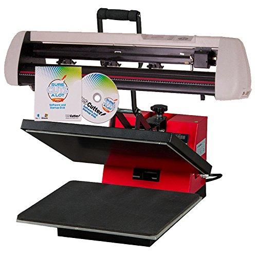 24' Vinyl Cutter & 15'x15' Heat Press - T-Shirt and Sign Making Machines Combo