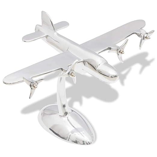 vidaXL 242344 Modelo de avión de Aluminio, para Escritorio ...
