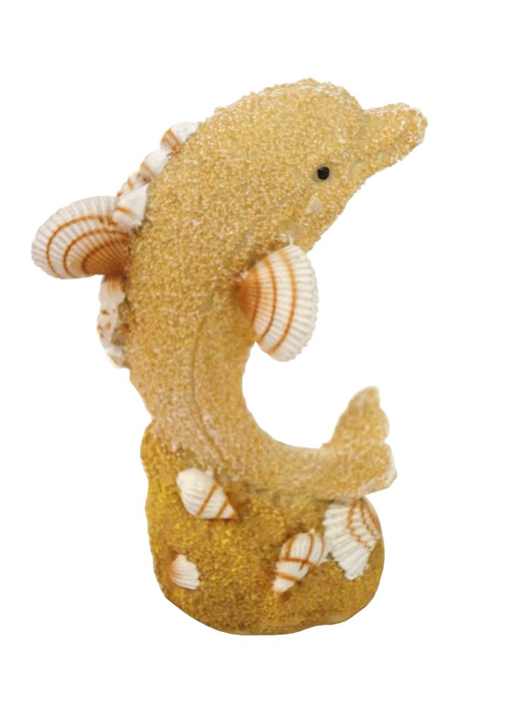 Cute Resin Dolphin Statue With Shells