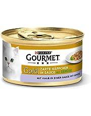 Purina GOURMET Gold Zarte Häppchen in Sauce, Katzennassfutter, für anspruchsvolle Katzen, Tiernahrung / Nassfutter, Dose