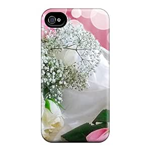 Durable Defender Case For Iphone 4/4s Tpu Cover(angel Roses) hjbrhga1544
