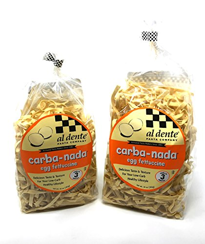 2 Packs Al Dente Carba-Nada Egg Fettuccine 10-ounce -