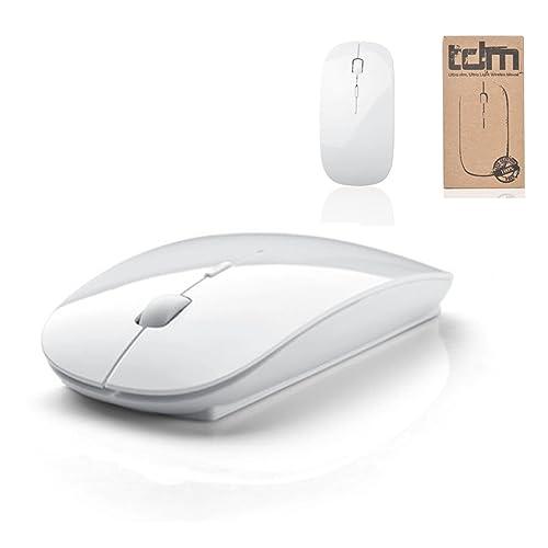 Tedim Souris optique sans fil pour Apple Mac Book, PC Windows et ordinateurs portables 3boutons Micro USB Blanc