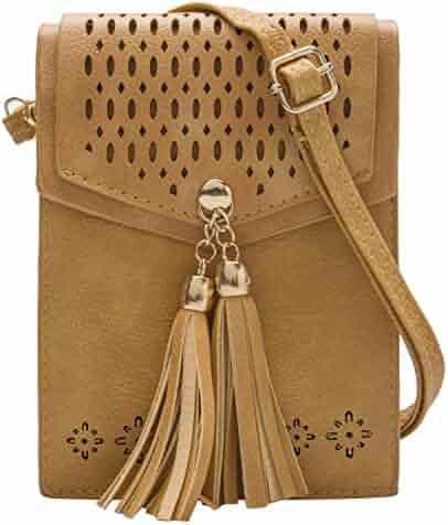 a9cd64de96d7 OLIVIA K Womens Cute Mini-Tribal-Crossbody Purse Wallet Pouch Bags-Tassel