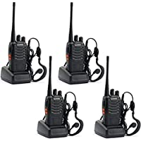 Baofeng 888s Two Way Radios Walkie Talkies Handheld Radios Long Range Security Radios(Pack of 4)