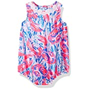 Lilly Pulitzer Baby Girls May Bodysuit, Cosmic Coral Cracked up, 3-6 Months