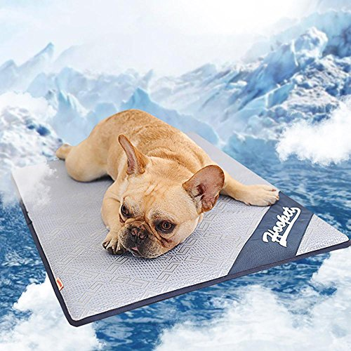 Aolvo Cooling Pad/Mat/Bed for Dogs & Cats, Extra Large - Non Toxic, Non Sticking, Skin-Friendly, Keep Pets Cool, Prevent Overheating & Dehydration - Comfortable Cool Stuff for Pet (19'' X 15'') by Aolvo (Image #4)
