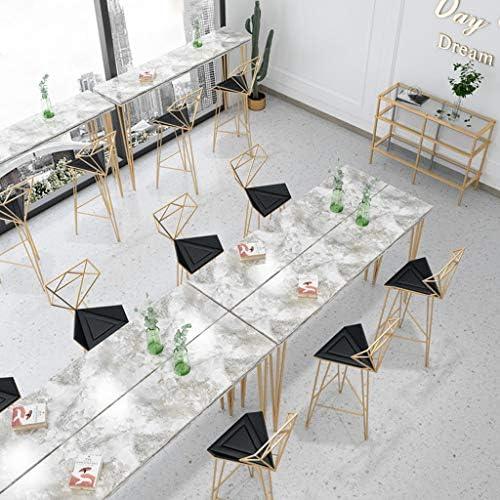 Altezza Seduta: 18//26//30 Pollici per Ristorante Bar Sgabello Alto da Cucina in Ferro Saldatura Triangolare Stabile in Metallo Forma dello Schienale diamantato Cuscino in Pelle