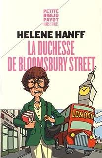 La duchesse de Bloomsbury Street, Hanff, Helene