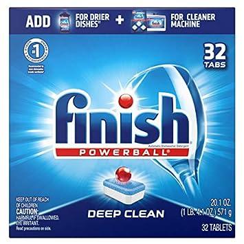 Finish Dishwashing Tablets,3 In 1, 20/BX, Sold as 1 Box: Amazon.es ...