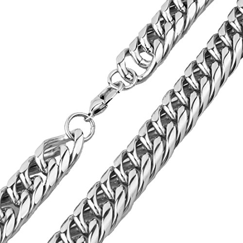 Men's 20mm Stainless Steel Curb Cuban Link Chain Necklace 16