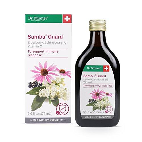 (Dr. Dünner Sambu Guard Black Elderberry Syrup with Elderflower, Echinacea & Vitamin C, 5.9 fl oz - for Immune Support, Non-GMO, Gluten Free, Lactose Free, Vegetarian)