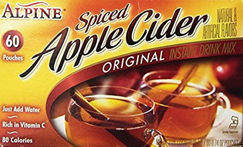 Alpine Spiced Apple Cider Drink Mix, Original, 0.74 oz (120 count)