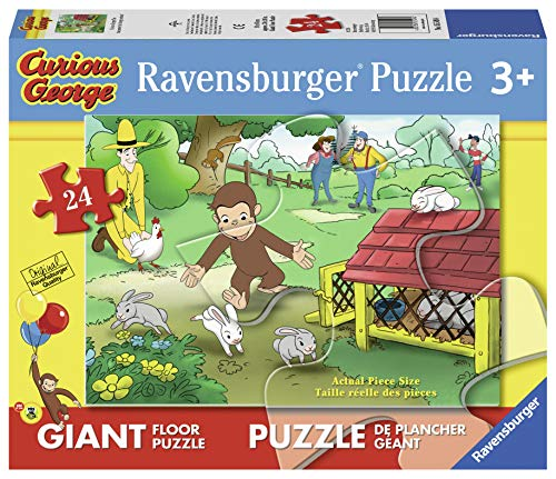 Ravensburger Curious George: Fun Giant Floor Puzzle (24 Piece)