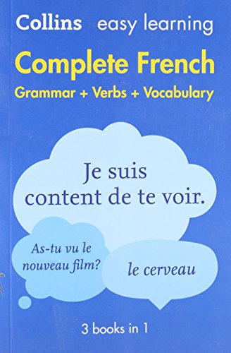 Complete French Grammar Verbs Vocabulary: 3 Books in 1 (Collins Easy Learning)|-|000814172X
